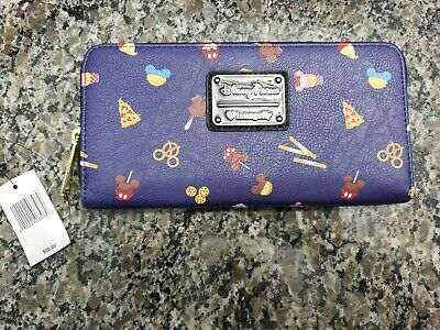 2019 Disney Parks Navy Wallet By Loungefly Snacks Dole Whip Pretzel Churros