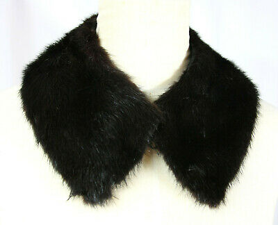 Vintage Mink Fur Collar Neck Warmer Scarf Stole - Brown