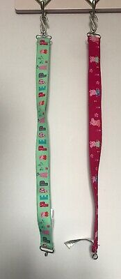 M&S Marks Peppa Pig Pink & Green Elasticated Stretchy Belts Accessories Age 4-6