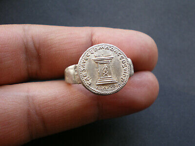RARE Ancient ROMAN LEGIONARY SILVER Ring