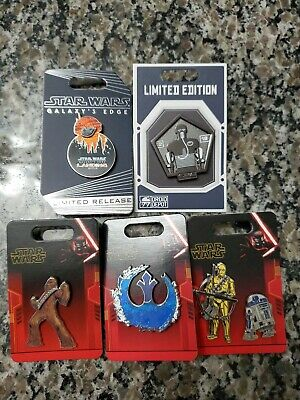 Limited Edition Disney pin lot 5 pins LE LR limited edition 2019 star wars