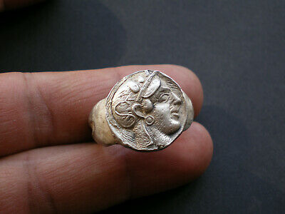 Rare Ancient ROMAN- GREEK SILVER Ring