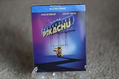 Pokemon Detective Pikachu SteelBook | Blu-ray + DVD | Brand New / Sealed