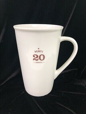 Starbucks Venti Coffee 20oz Tall Mug Cup 2010