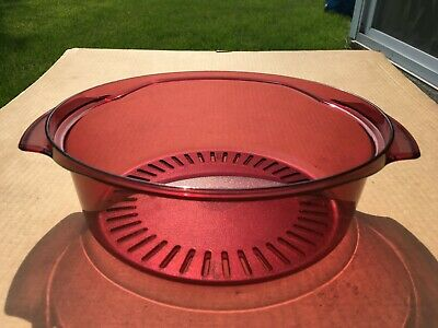 Tupperware Microwave Stack Cooker Replacement Quart Steamer 2195A- Cranberry