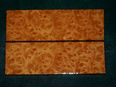 Aaaaa Thick Madrone Burl Knife Scales  #0254
