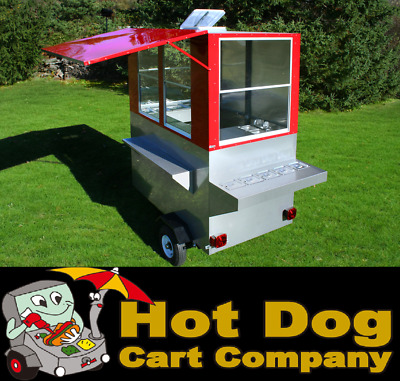 Enclosed Hot Dog Cart Vending Concession Trailer Stand New Weenie Genie Cart