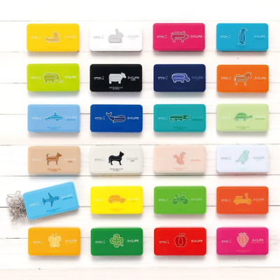 MIDORI D-CLIPS Japanese Cute Design Gem Clips 30 pcs 20 Design