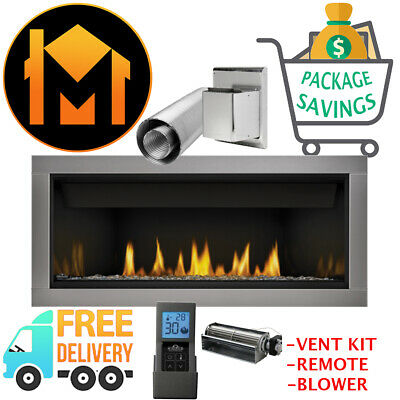 Napoleon Bl46nte Ascent Linear 46 Gas Fireplace Full Package Kit