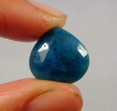 Dyed-Faceted-Blue-Sapphire-Gemstone 7 CT 11x11  W445