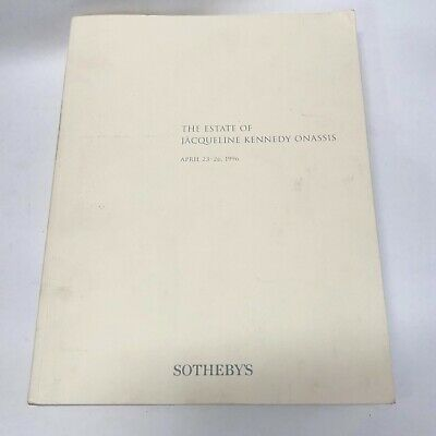 1996 The Estate of Jacqueline Kennedy Onassis Sotheby's Auction Catalog