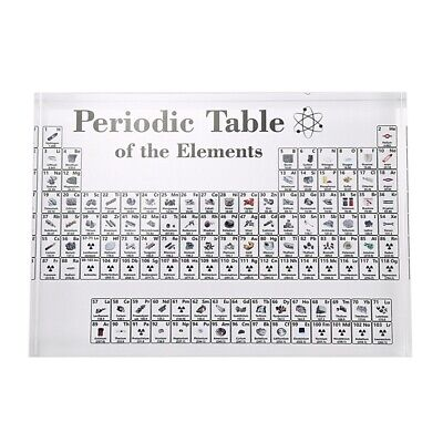 Acrylic Periodic Table Display with Elements Table Display, with Elements S I9G2