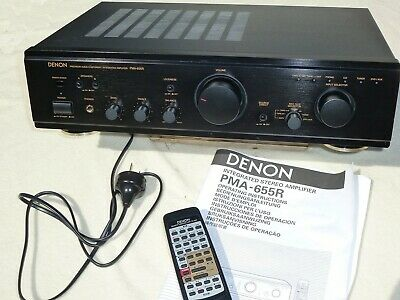 Denon Integrated Amplifier PMA-655R + Remote and Manual. **As New Condition**