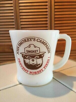 Old Join Smokey the Bear Campaign Prevent Forest Fires Fire King Coffee Mug
