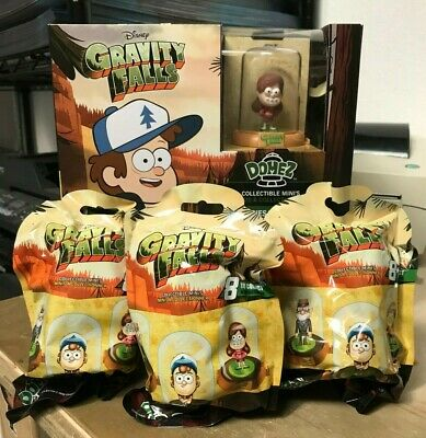 "3x GRAVITY FALLS DISNEY DOMEZ COLLECTIBLE 2"" FIGURE BLIND BAG BRAND NEW SEALED"