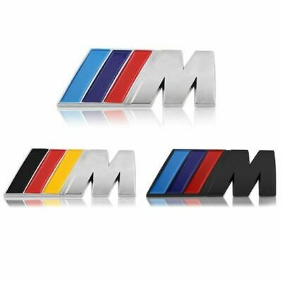 BMW 3D M Badge Grille Emblem Chrome or Black Badge Metal Power Car Fashion Logo