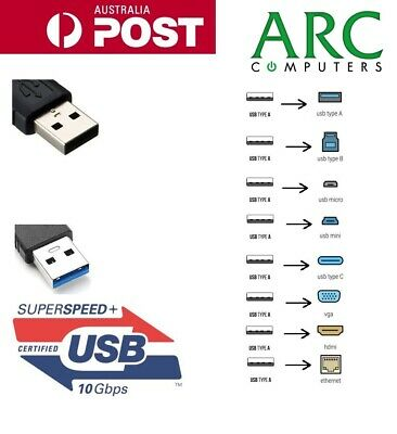 USB 3.0 USB 2.0 to HDMI VGA Type-B Micro-B Phone Charge Extension Cable Adapter