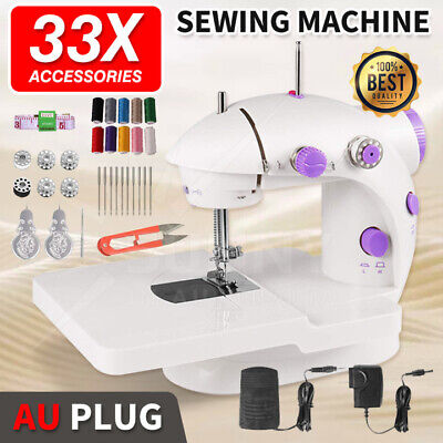 Portable Sewing Machine Mini with Lamp and Thread Cutter with Extension table