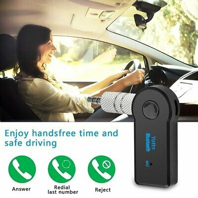 Wireless Bluetooth Receiver 3.5mm AUX Audio Stereo Music Home Car Adapter GN