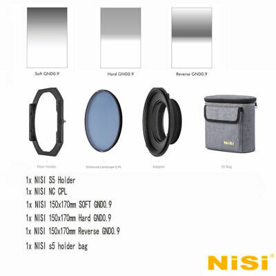 NISI S5 150mm Filter KIT Holder For NIKON 14-24mm F2.8+Soft /Reverse+HARD GND8
