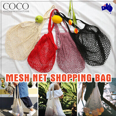 Mesh Long Net Turtle Bags String Shopping Bag Reusable Fruit Storage Handbag