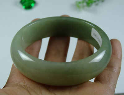 Certified Green Jade Bangle Bracelet Grade A Jadeite Emerald 58 MM B-181-4