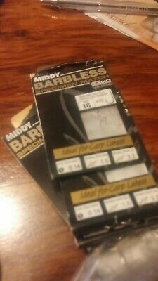 BARBLESS HOOKS TO NYLON WITH HAIR SIZE 14 SHAKESPEARE MACH XT COARSE FISHING