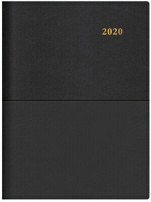 2020 Diary◉COLLINS◉VANESSA◉A4 2 Days to a Page◉Spiral◉245.V99-20◉Black◉ New Look