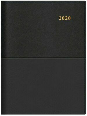 2020 Diary◉COLLINS◉VANESSA◉A5 Day to a Page DTP◉Spiral◉185.V99-20◉Black◉New Look
