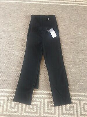 2x Girls Black Trousers From Tu Age 9 Brand New