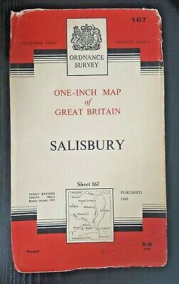 Ordnance Survey Seventh Series One-Inch Map Sheet No.167 SALISBURY