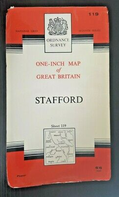 Ordnance Survey Seventh Series One-Inch Map Sheet No.119 STAFFORD