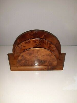Antique Walnut Letter Rack Circa 1930s Art Deco
