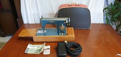 Seamstress Super De-Luxe Vintage Portable Electric Sewing Machine in Case