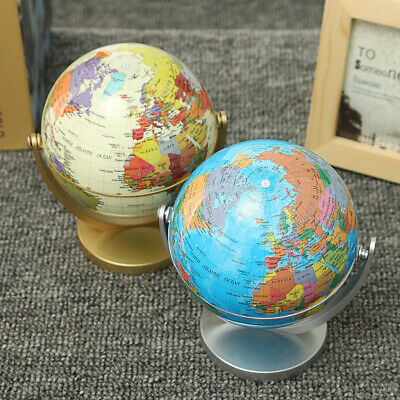 360° Rotated Earth Ocean Globe Rotating Desktop Gift Globes World Geography Toy