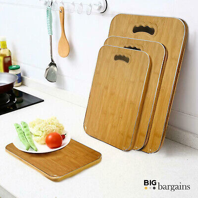Wooden Chopping Board Kitchen Dicing Slicing Cutting Food Vegetable Meat Square