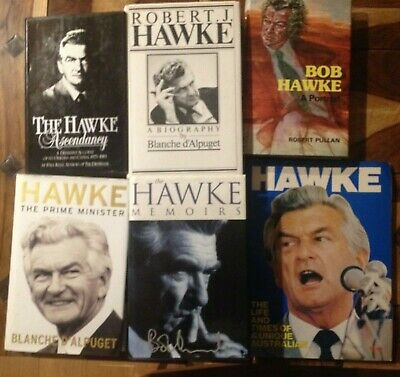 Bob Hawke Collection of Books including The Hawke Memoirs by Bob Hawke (signed)