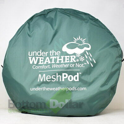 Under The Weather Mesh Pod Instapod Pop-Up Sports Pod w/Carry Case Green