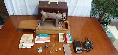Electric Singer Sewing Machine - Model 185K + Lid & Extra Feet + Instructions