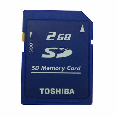 SanDisk 2GB SD Card MEMORY CARD 2 GB For Digital Cameras Blue Secure Digital