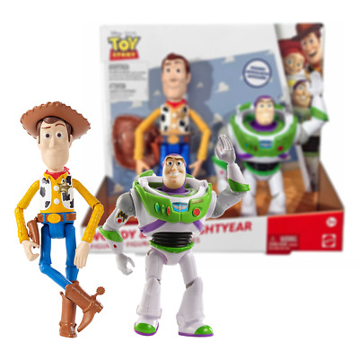 New Toy Story Woody & Buzz Lightyear Posable Figures Disney Pixar Official