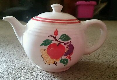 Cronin  Fine China- Tea Pot - COI44 Fruit with red trim pattern Vintage