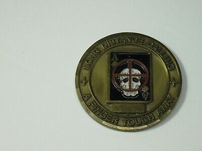 Scout/Sniper Long Distance Calling A Finger Touch Away Challenge Coin