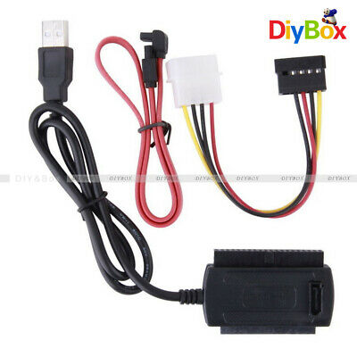 SATA/PATA/IDE to USB2.0 Converter Cable Adapter for 2.5/3.5'' Hard Drive Disk DB