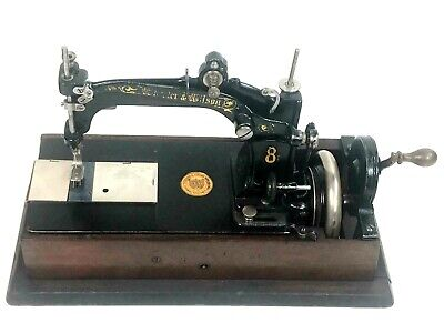 Antique Wheeler & Wilson No. 8 Hand Crank Sewing Machine c1878 [5592]