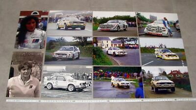 11x Foto / photo Audi Sport quattro UK Rally Mouton Mikkola 1985 1986 Manx Welsh