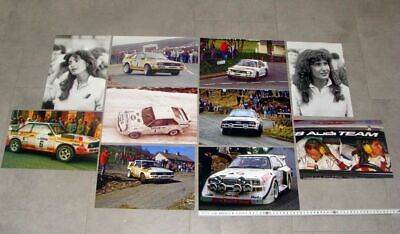 10x Foto / photo Audi Sport quattro UK Rally Mouton Mikkola S1 1985 1986 Ulster