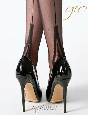 Gio Fully Fashioned Stockings - LAFAYETTE Black - Imperfects NEW!