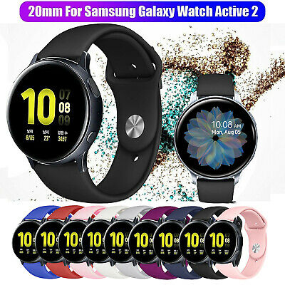 Replacement Silicone Sport Slim Band Wristband for Samsung Galaxy Watch Active 2