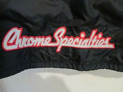 Men's Vtg 80's Chrome Specialties Replacement Parts For Harley Davidson Jacket